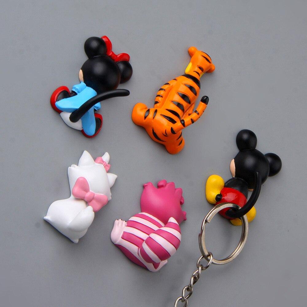 1PC Cartoon Mouse Tiger Cat Resin Crafts Fridge Magnet Souvenir Refrigerator Sticker Home Kitchen Decoration Accessories DIY