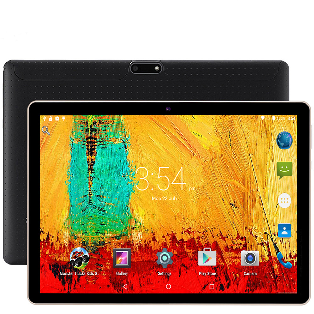 10.1 Inch Tablet PC Android 7.0 Google Play 3G Phone Call 4GB 64GB Support Octa Core Dual SIM GPS FM BT OTG Pc