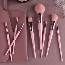 8Pcs Makeup Brush Set Concealer Foundation Liquid Blush Powd