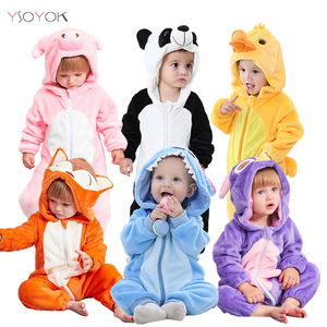 Baby Boy Girls Animal Cosplay Rompers Toddler Carnival Halloween Outfits Boys Panda Costume For Girls Jumpsuits Infant Clothes(China)