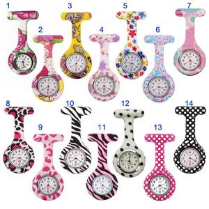 Nurse Watches Pendant Clip-On-Fob-Brooch Pocket Hanging-Doctor Medical Quartz FIF66 Printed-Style
