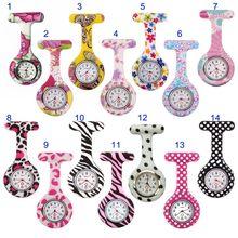 Recém enfermeira relógios estilo impresso clip-on fob broche pingente bolso pendurado médico enfermeiros relógio de quartzo médico fif66