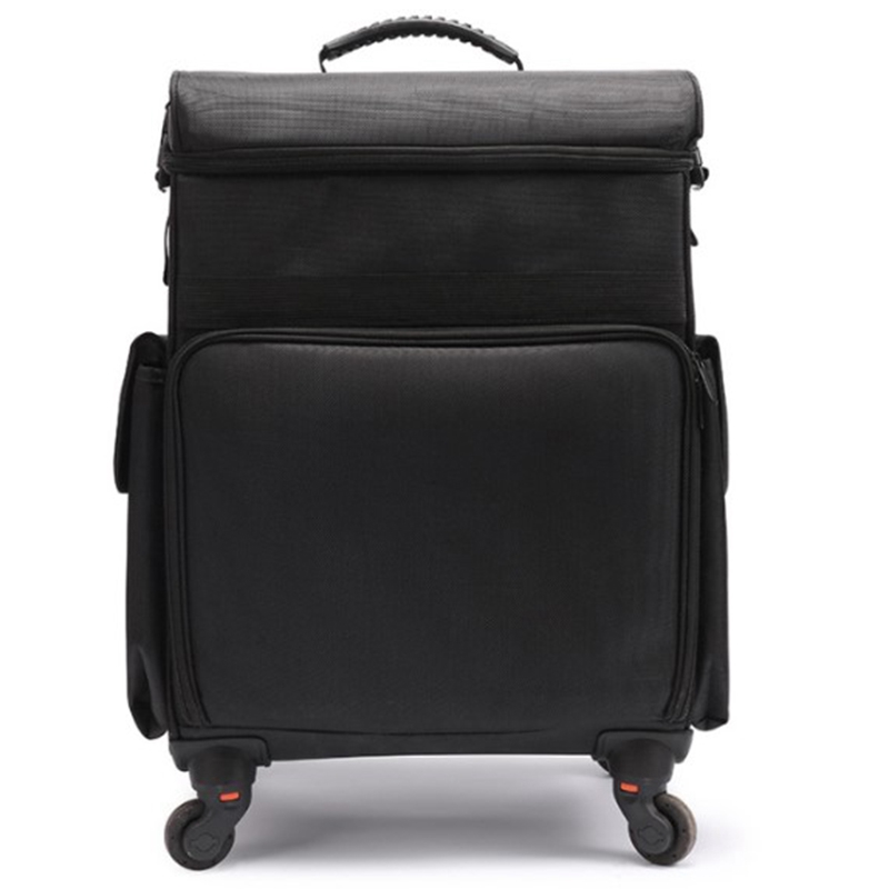 Cabin Makeup Artist Box With Rolling Cosmetic Bag,Wheel Make-Up Case,Aluminum Nails Toolbox ,Beauty Suitcase,Luggage