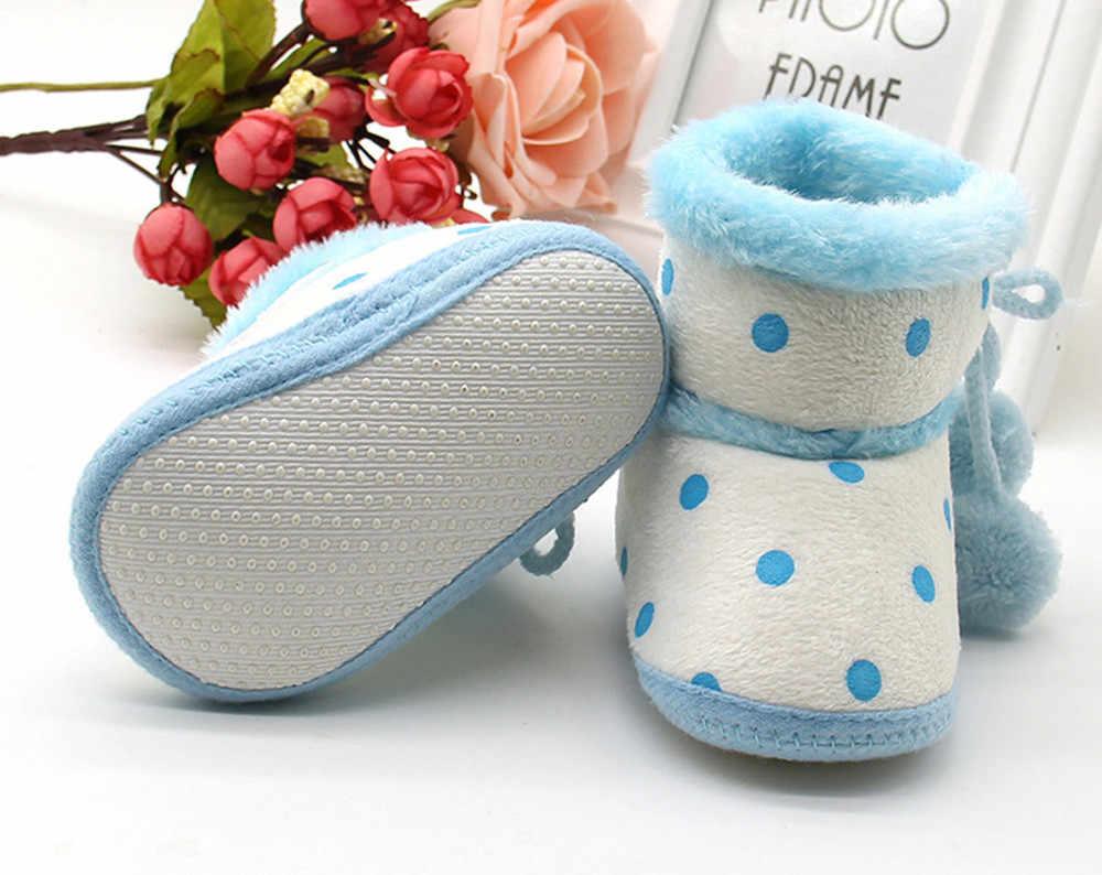 0-18 חודשים חורף תינוק נעלי בנות בני פעוט נעלי סרוג חם רך נעלי שלג מגפי תינוק פעוט יילוד התחממות נעליים