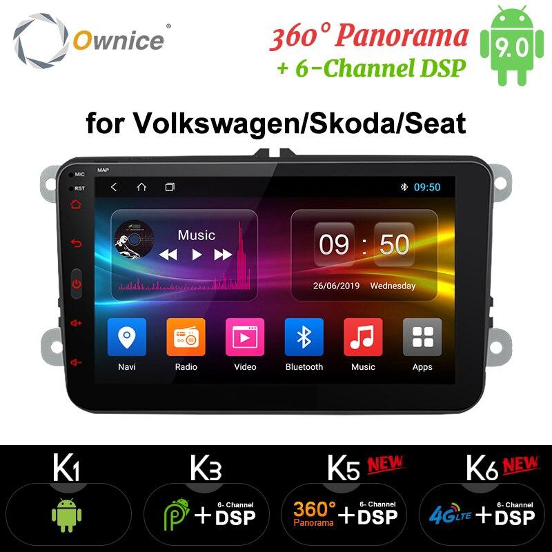 Ownice Android 9.0 main libre bluetooth universel 2 Din K3 K5 K6 autoradio GPS pour Volkswagen/Skoda/siège
