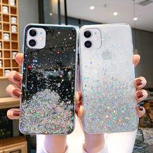 Luxury Bling Glitter Phone Case For iPhone 11 Pro Max XR XS X 8 7 6S 6 Plus Case For iPhone 11 Pro Silicone Sequins Star Cover(China)