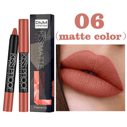 New 1 Pcs Lipstick Lip Liner Pencil Velvet Lip Stick Smooth High Pigmented Cosmetics SCI88