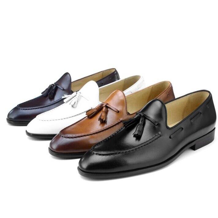 Wincheer/Новинка 2019 года; повседневные мужские лоферы из натуральной кожи на плоской подошве; мужские лоферы; удобная мужская обувь - 2