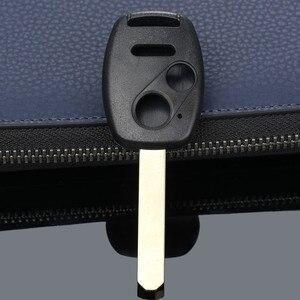 Image 3 - 3 botones botón Repalcement entrada sin llave estuche para mando a distancia caso clave hoja sin cortar para HONDA Accord piloto cívica CR V coche cubre