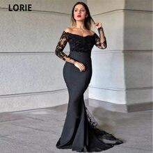 Черные вечерние платья русалки lorie для женщин с открытыми