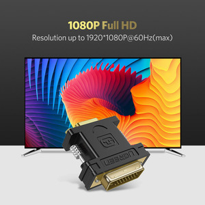 Image 5 - Ugreen 1080P DVI 24 + 5 Male naar VGA Female Converter DVI i naar VGA adapter vergulde DVI converter voor Computer PC Host Laptop