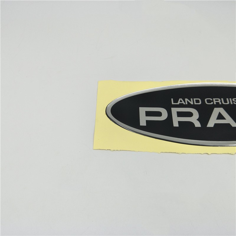 For Toyota Land Cruiser Prado Rear Trunk Tail Gate Spare Tire Emblem Side Door Nameplate sticker