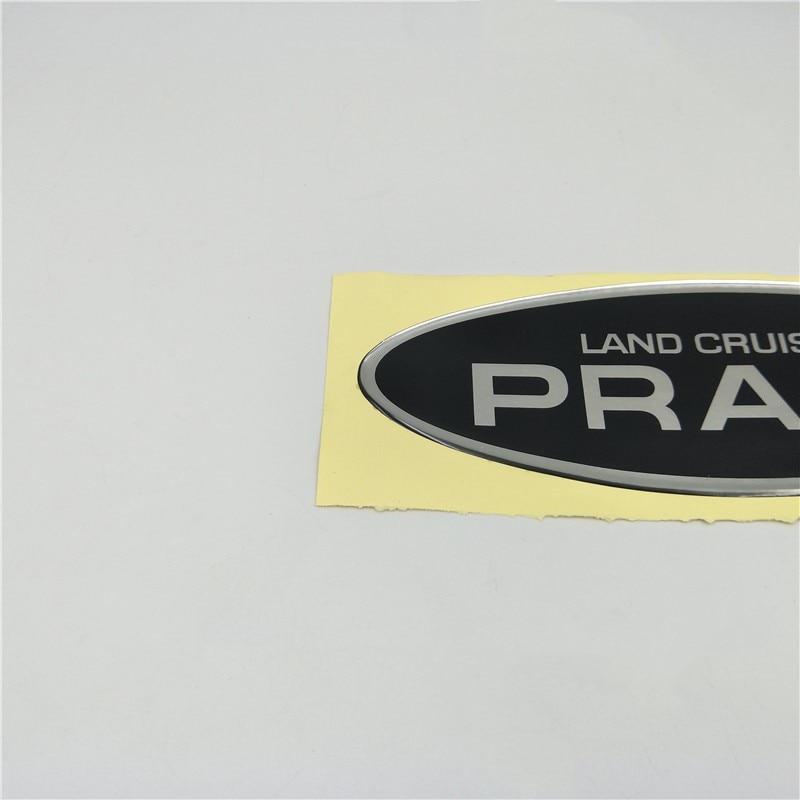 For Toyota Land Cruiser Prado Rear Trunk Tail Gate Spare Tire Emblem Side Door Nameplate sticker