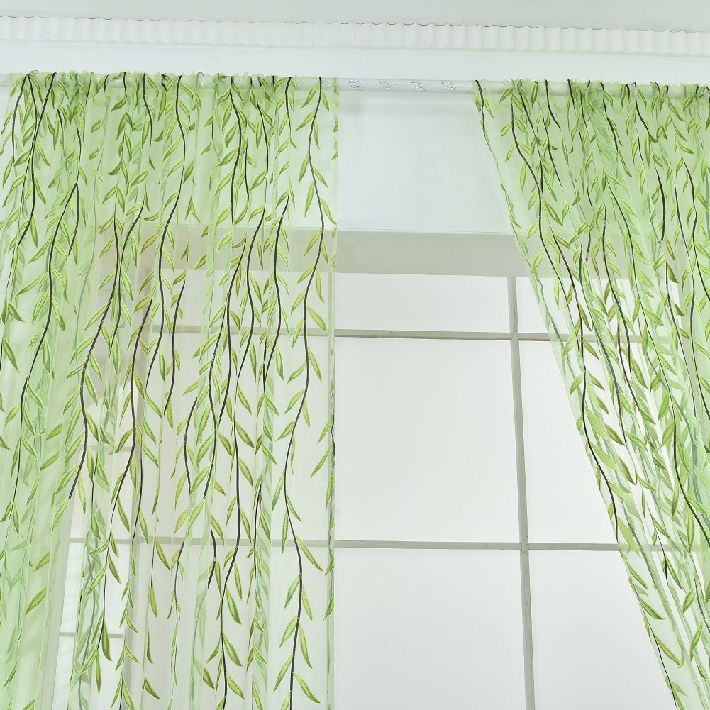 Yarn Curtain Window Tulle Curtains For Living Room Kitchen Modern Window Treatments Voile Curtain For Home