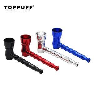 Image 5 - Toppuff אלומיניום מתכת צינור עישון טבק עשן צינורות נייד טבק צינורות