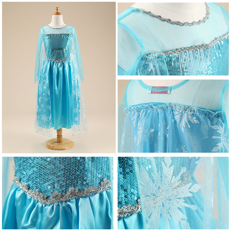 Dress for Girls Kids Christmas Dress Halloween Cosplay Costume Children Birthday Party Clothing Girls Princess Costume