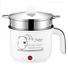 1.8L Multicooker Drum Bentuk Putih Non Stick Pan Mini Rice Cooker untuk Asrama Mahasiswa(China)