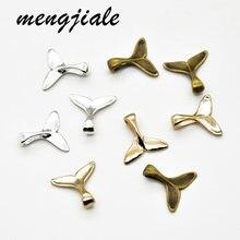 Vendita calda 50 pz metallo Mix colore coda di balena Charms pesce ciondolo sirena per le donne collana accessori gioielli fare 16*16mm