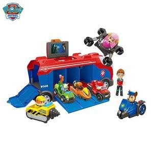 Image 3 - Serie di cani di pattuglia della zampa Set Bus squadra di salvataggio Toy Car Patrulla Canina Action Figure Toy Model bambini regalo di compleanno di natale