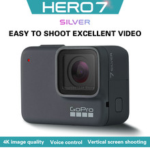 GoPro-cámara vertical hero 7 silver 4k30, HD, Antivibración, conexión Bluetooth, ciclismo, esquí, deportes extremos