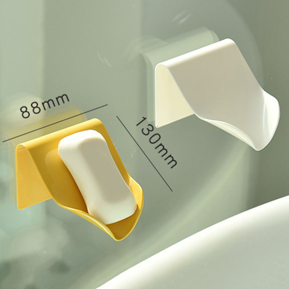 Drain Soap Holder Home Bathroom Seamless Paste Wall Hanging Kitchen Wash Hand Soap Tray Indoor Soap Storage Shelf