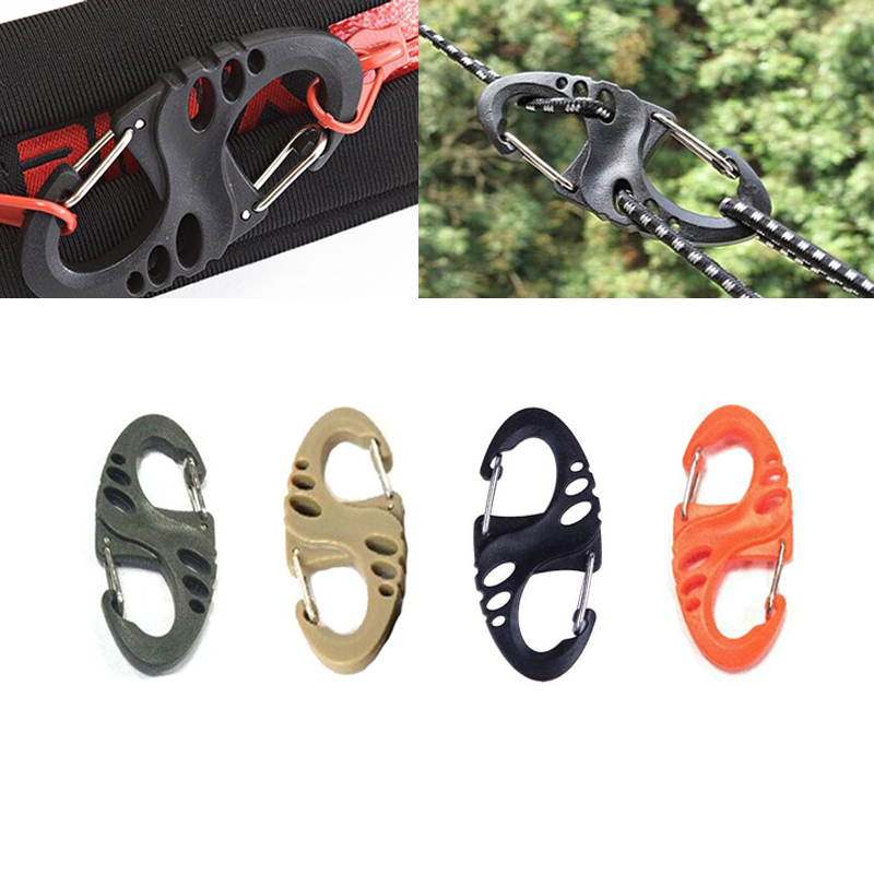 Mini Attach Carabiner Clipout Door Survive Bushcraft Hike Quick Draw Buckle Mountain Climb Clasp Hook Backpack Hang Camp