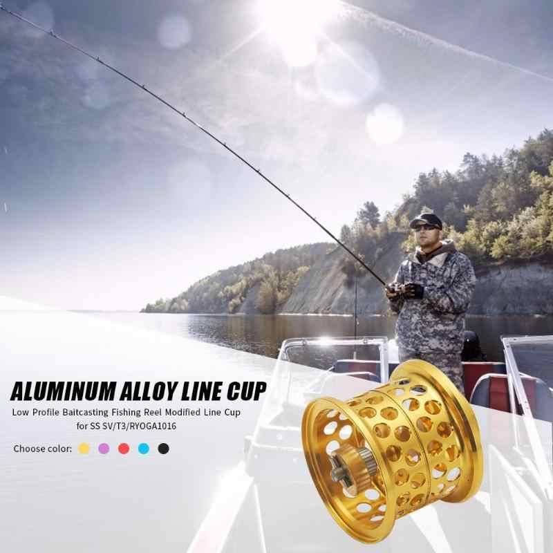 Perfil bajo de línea taza Baitcating carrete DIY portátil y duradero de carrete de la pesca modificada Micro-Copa carrete para millones de SV 1016