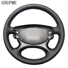 Black Genuine Leather Car Steering Wheel Cover for Mercedes Benz E Class W211 E230 E350 E280 CLS Class CLS 350 500 G AMG SL CLK