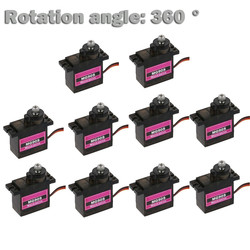 HIINST 10PCs MG90S Micro Metal Gear 9g Servo for RC Plane Helicopter Boat Car 4.8V- 6V Rotation 360 RC toy accessories parts
