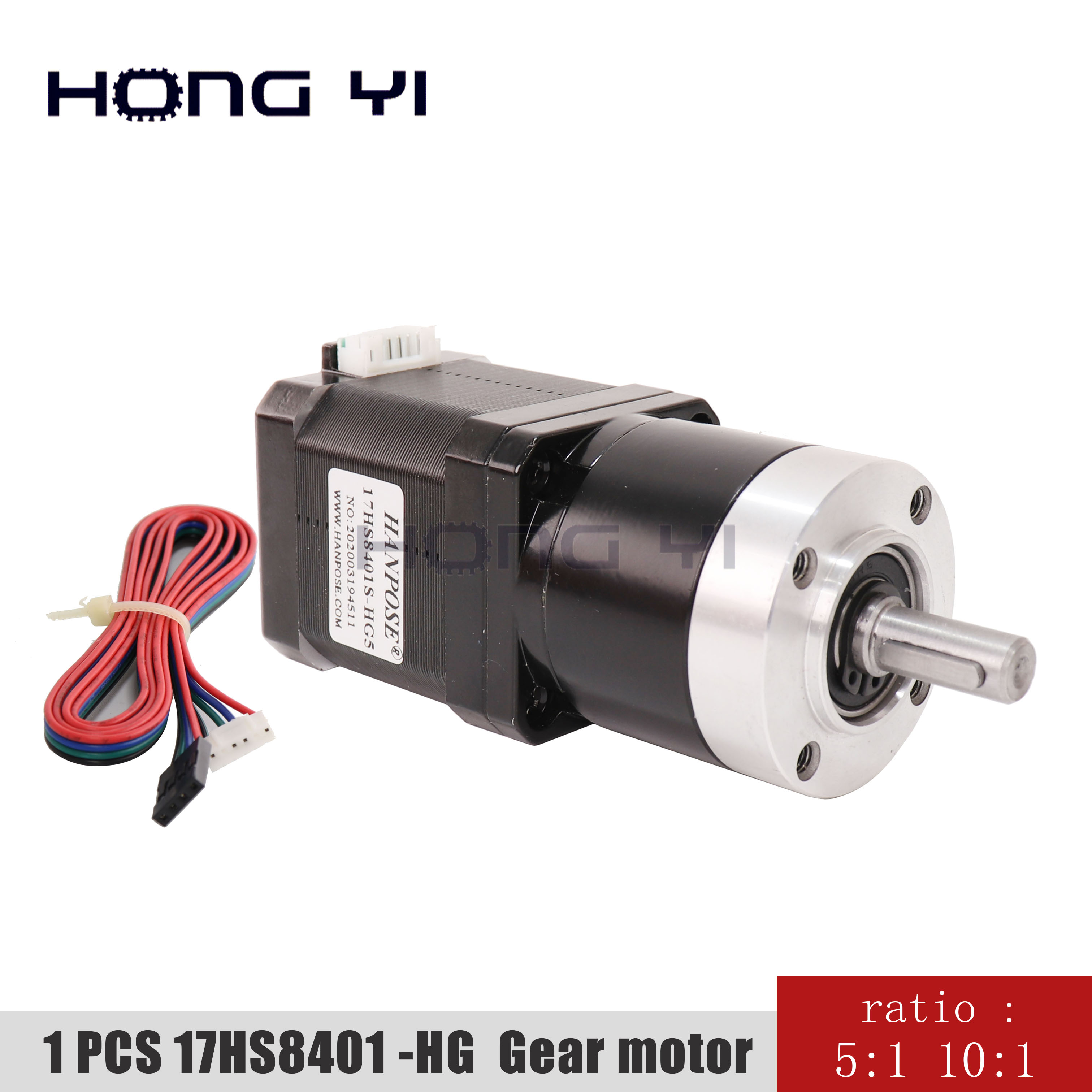 17HS8401S-HG <font><b>Gear</b></font> ratio 5-1 10-1 Planetary Gearbox stepper motor <font><b>Nema17</b></font> 3d printer motor image