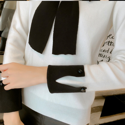 Sweater bow womens fashion 2019 autumn and spring tops womens knitted pullovers long sleeved jumper womens clothing Slim fit 6