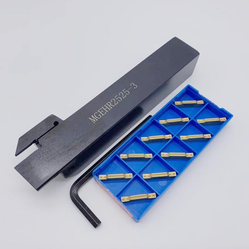 MGEHR/MGEHL1616/2020/2525-3 Outer Circle Slotting Cutter Bar+MGMN300 G NC3020 PC9030 Slot Blade