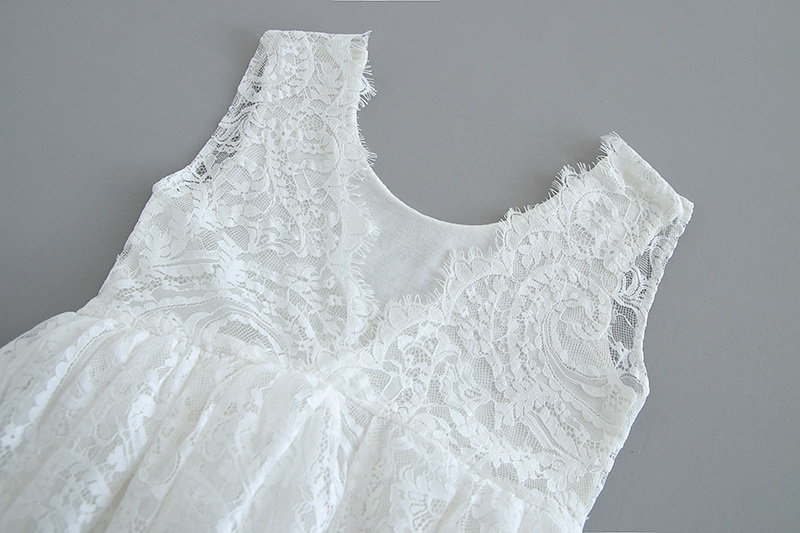 70-11-White Lace Girls Dress