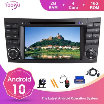TOOPAI Android 10 Auto FM Radio For Mercedes Benz E-Class W211 E300 CLK W209 CLS W219 Navi GPS Multimedia DVD Player Can-Bus image