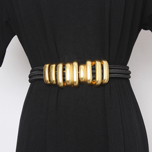CETIRI High Quality Fashion Trendy Designer Belt Gold Metal Buckle Belt