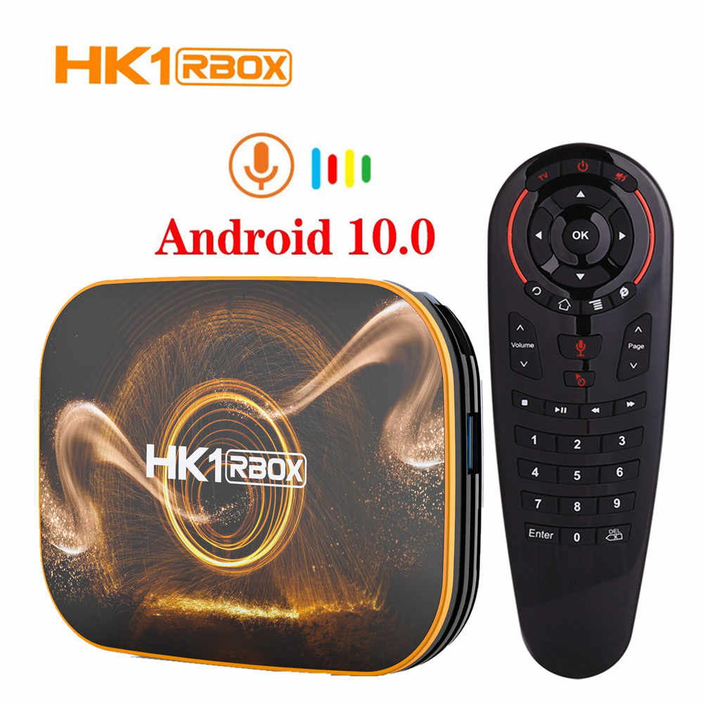 HK1 กล่องR1 กล่องทีวีAndroid 10 4GB RAM 32GB 64GB ROM 4K H.265 USB3.0 Netflix RK3318 PK HK1 MAX Smart Android TV Set TOP BOX