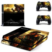 Dark Souls PS4 Stickers Play station 4 Skin PS 4 Sticker Decals Cover For PlayStation 4 PS4 Console & Controller Skins Vinyl