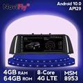 NaviFly 10.25 IPS Android 10.0 car dvd gps for BMW 5 Series F10 F11 520i (2011-2016) CIC/NBT 4GB+64GB 4G LTE WIFI USB BT