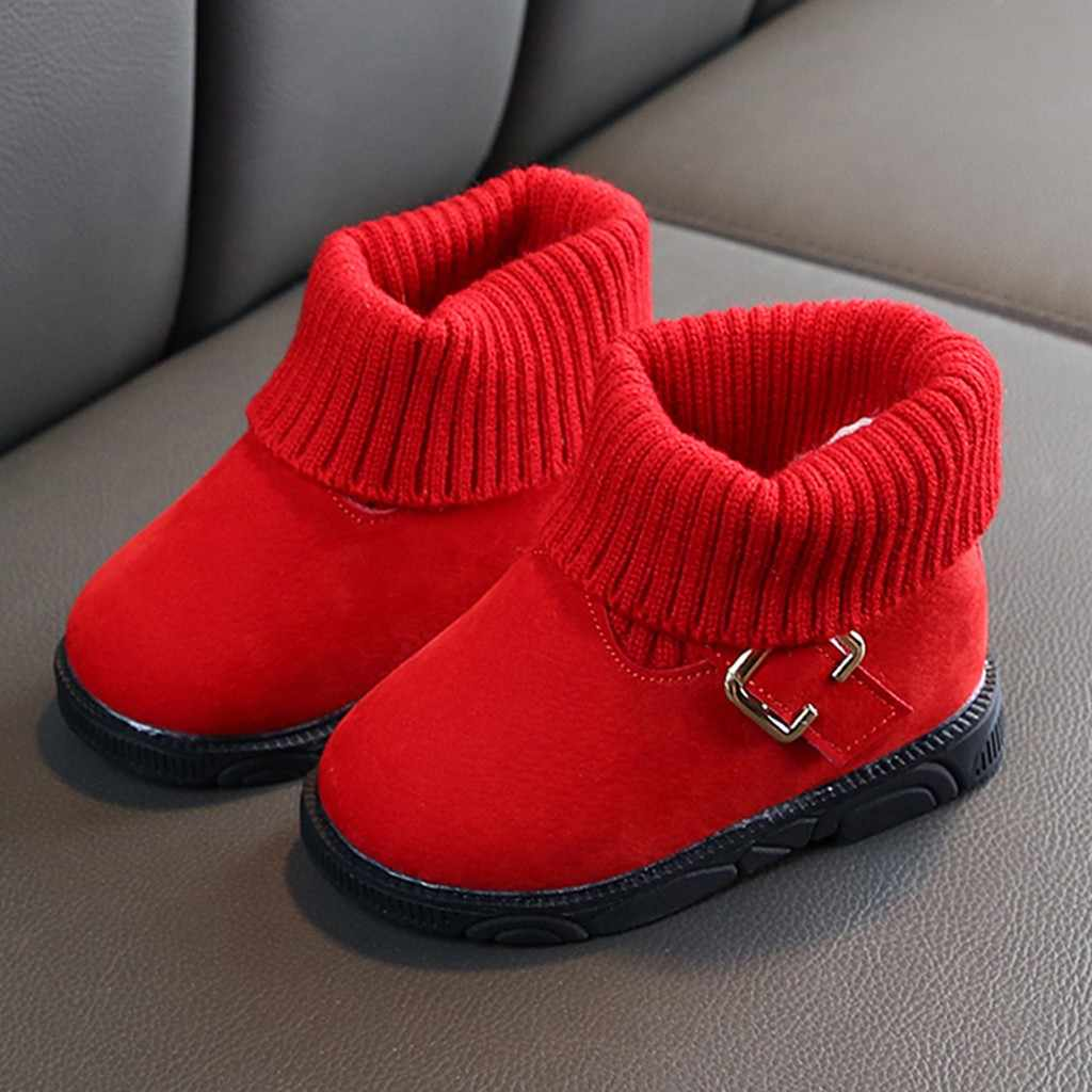 Tập đi cho Trẻ Sơ Sinh Đồ Sơ Sinh Mùa Đông Giày Trẻ Em Cho Bé Gái Mùa Đông Ấm Chắc Chắn Cổ Ngắn Tăng Bootie Giày Botas Bebe Nina Ботинки
