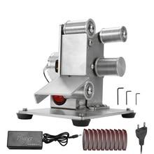 Многофункциональный измельчитель мини электрический ленточный шлифовальный станок DIY шлифовальная полировальная машинка для резки кромок точилка