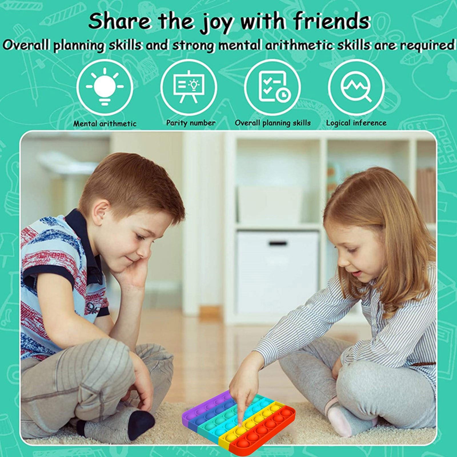 Fitget-Toys Sensory-Toy Autism Fidget Needs-Stress Pop-It-Game Push Bubble Reliever Popoit img5