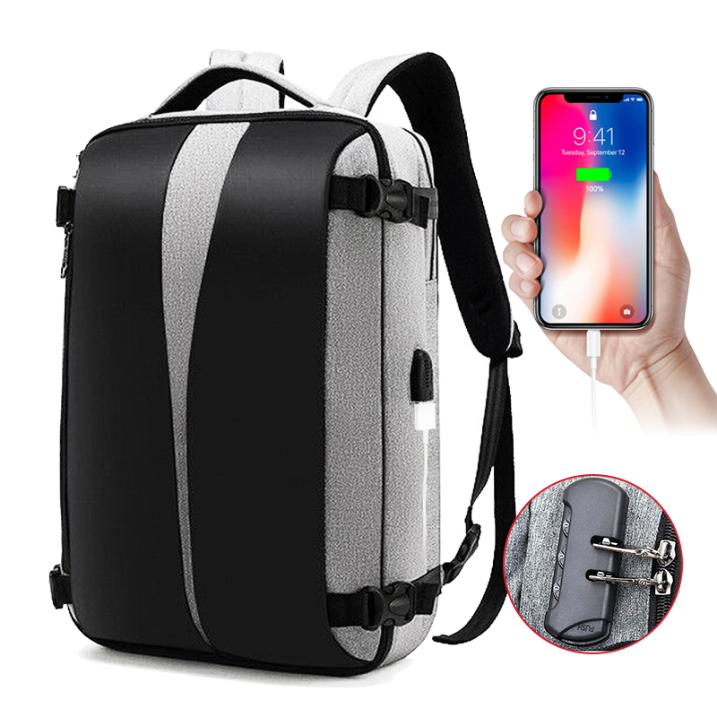 Laptop Backpack 15.6 Inch Anti Theft Men Back Pack Notebook Bag Male Business Travel Bags Waterproof USB Charging School Bagpack