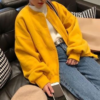 GOOHOJIO 2020 New Solid Color Casual Slim Jacket Women Fashion Autumn Women Jackets Chic Colorful Long Sleeve Female OverCoats