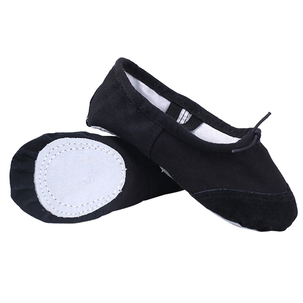A Pair Women Strong Toughness Slippers Wear Resistant Canvas Ballet Dance Shoes Training Practice Lightweight Soft Bottom Yoga