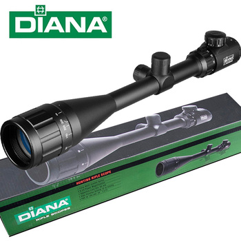 DIANA 6-24x50 AOE Tactical Riflescope Red Green Illuminated Rifle Scope Sniper Optic Sight Hunting Scopes m3 6 24x50 riflescope tactical optical rifle scope sniper hunting rifle scopes long range airsoft rifle scope
