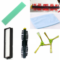 3 arm Side Roller Brushes Filter Mop Cloth Kits For Hom Bot VR65710 Vacuum Cleaner Parts Household Cleaning Tools