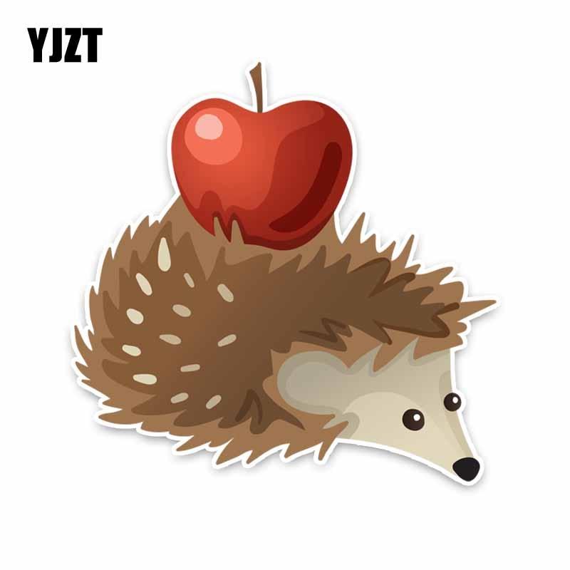 YJZT 15CM*15CM Animal Hedgehog Fun PVC Car Window Sticker Decal C29-0177