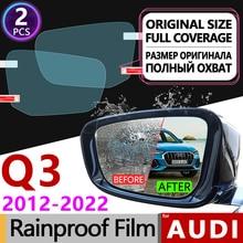 2Pcs for Audi Q3 8U F3 2012 - 2022 Full Cover Anti Fog Film Rearview Mirror Rainproof Clear Anti-Fog Films Accessories Sline