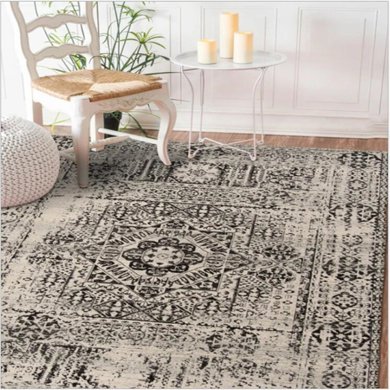 AOVOLL European Classical Carpets For Living Room Soft Geometric Rugs For Bedroom Carpet Coffee Table Fashion Decorative Mat|Carpet| |  - title=
