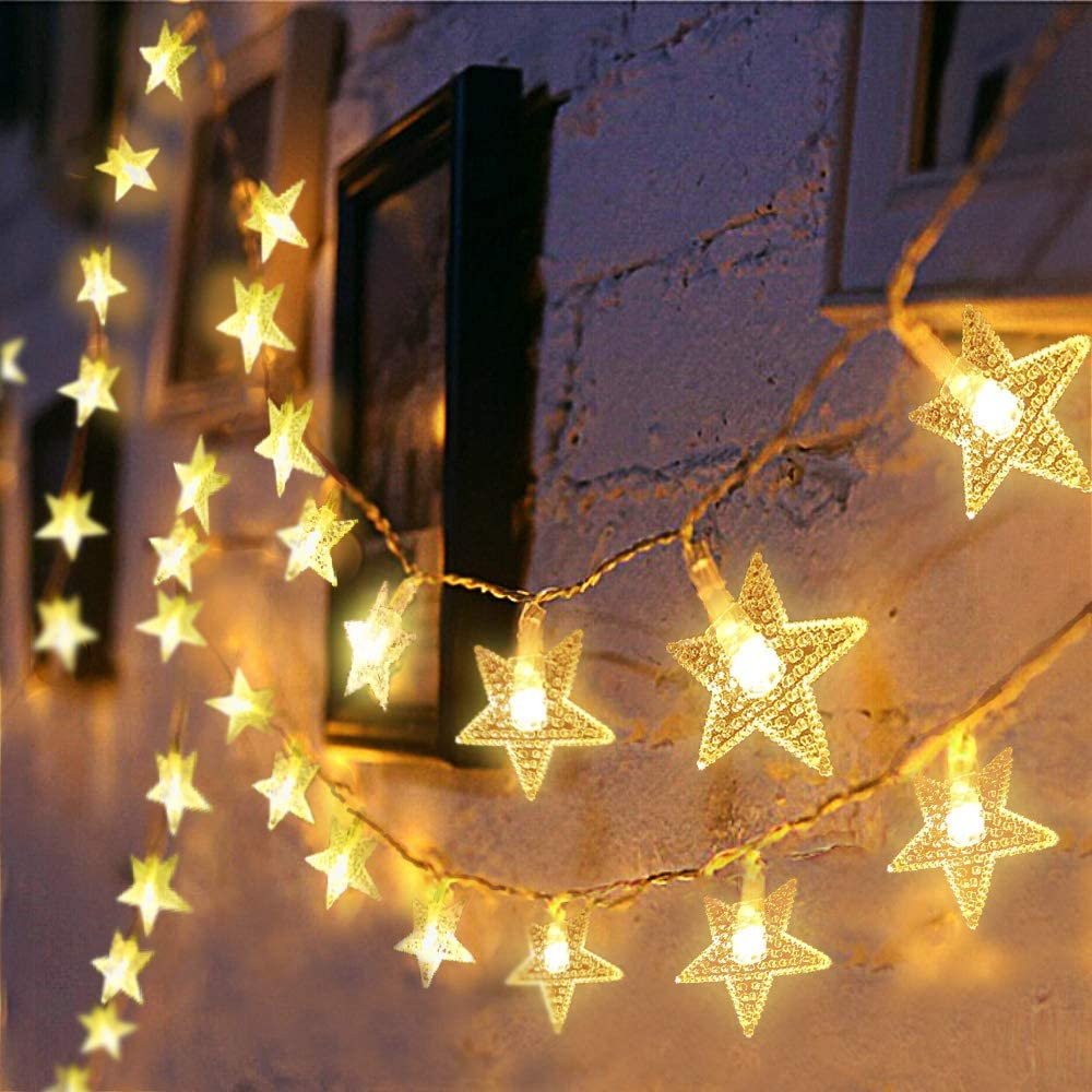 10 LED Fairy String Star Light Wedding Xmas Party Outdoor Indoor Room Decor